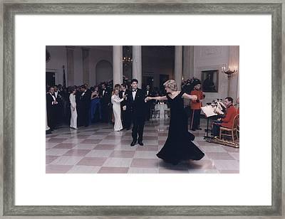Princess Diana Dancing With John Framed Print