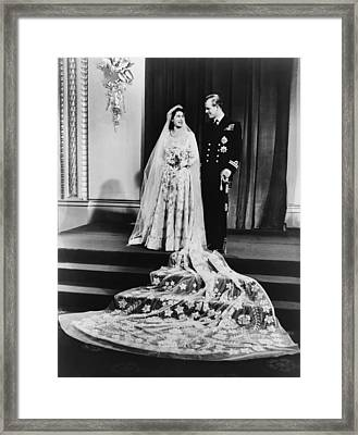 Princess Elizabeth And Prince Philip Framed Print by Everett