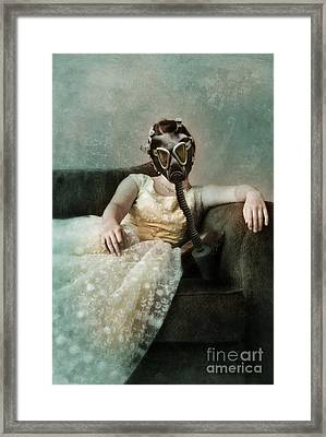 Princess In Gas Mask 2 Framed Print by Jill Battaglia