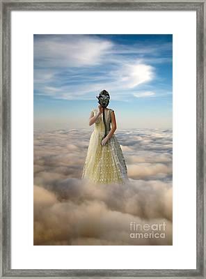 Princess In Gas Mask 3 Framed Print by Jill Battaglia