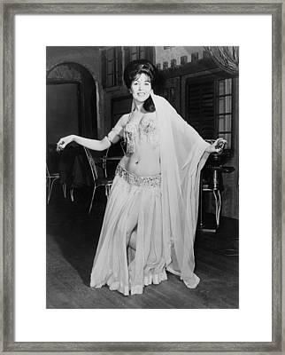 Princess Lesia, Belly Dancer Framed Print by Everett
