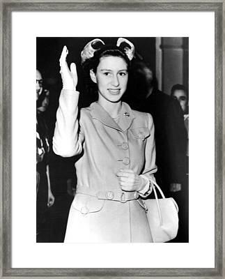 Princess Margaret, Candid Of Her Visit Framed Print