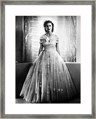 Princess Margaret, In Bridesmaid Dress Framed Print