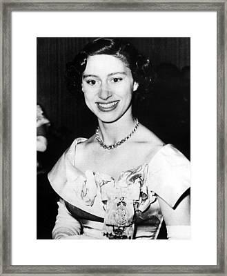 Princess Margaret, Portrait Framed Print
