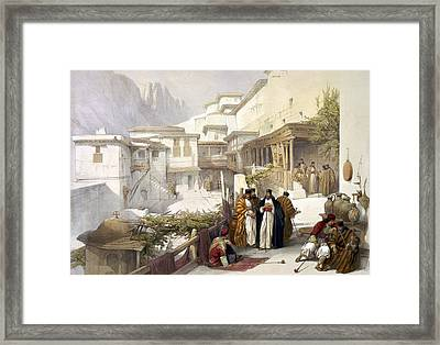 Principal Court Of The Convent Of St. Catherine Framed Print by Munir Alawi