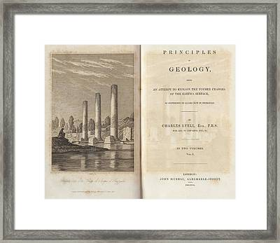 Principles Of Geology (1830) Framed Print by King's College London