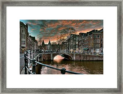 Prinsengracht And Reguliersgracht. Amsterdam Framed Print