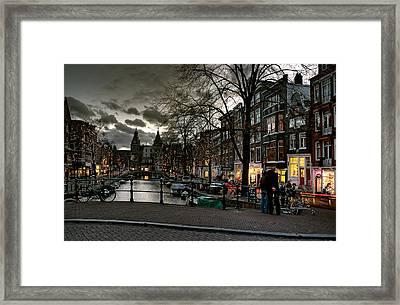 Prinsengracht And Spiegelgracht. Amsterdam Framed Print