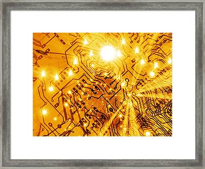 Printed Circuit Board, Artwork Framed Print by Mehau Kulyk