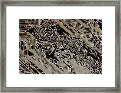 Printed Circuit Board, Computer Artwork Framed Print by Pasieka