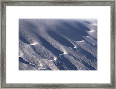 Prints In Sand Framed Print by John Foxx