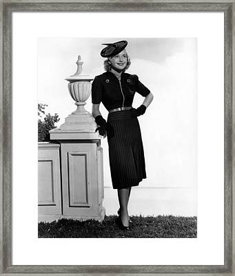 Priscilla Lane, 1938 Framed Print by Everett