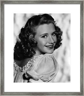 Priscilla Lane, Ca. 1940s Framed Print by Everett