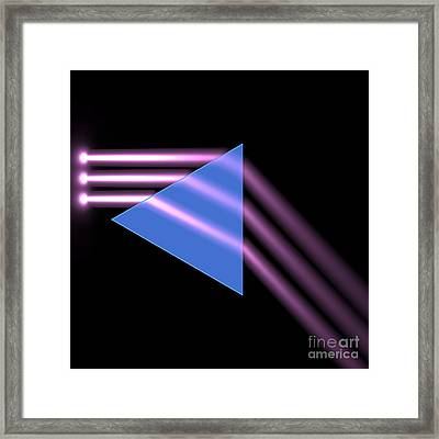 Framed Print featuring the digital art Prism 1 by Russell Kightley