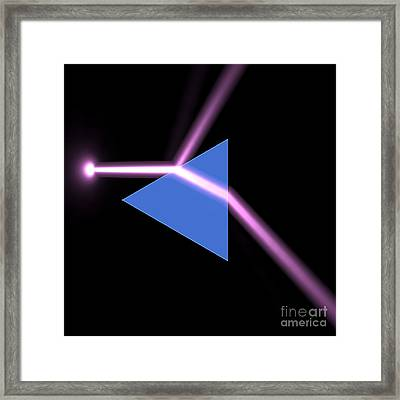 Framed Print featuring the digital art Prism 3 by Russell Kightley