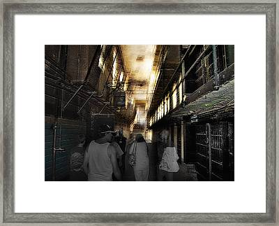 Prison Tour 1 - Wyoming Frontier Prison Framed Print by Steve Ohlsen