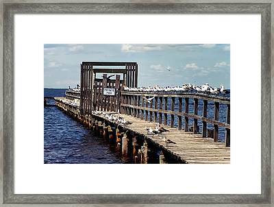 Private Pier Framed Print by Geraldine Alexander