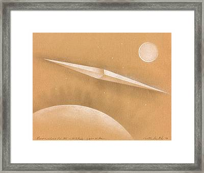Procon Above Earth Framed Print by Albert Notarbartolo