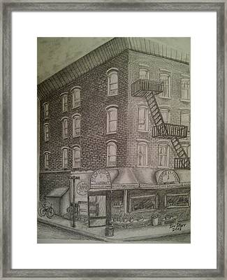 Produce Market In Brooklyn Framed Print by Irving Starr