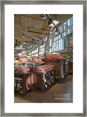 Produce Section Of A Grocery Store Framed Print by Robert Pisano