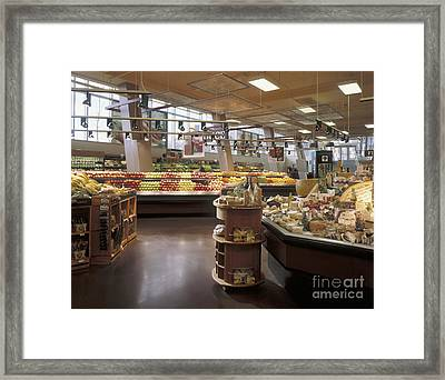 Produce Section Of A Supermarket Framed Print