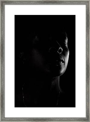 Profile In Black And White Framed Print by Anya Brewley schultheiss