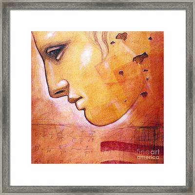 Profile With Einstein Equation Framed Print by Chris Bradley