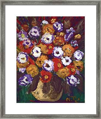 Profusion Of Blooms Framed Print