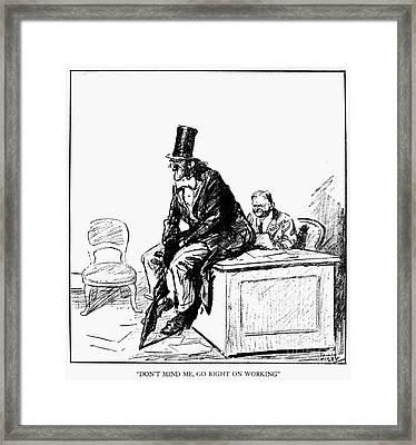 Prohibition Cartoon, 1929 Framed Print