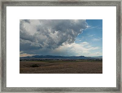 Framed Print featuring the photograph Promises Of Rain by Fran Riley