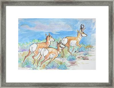 Framed Print featuring the painting Prongs by Jenn Cunningham