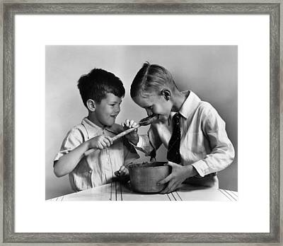 Proof Of Pudding Framed Print by Dorothy Roberts Mac Leod