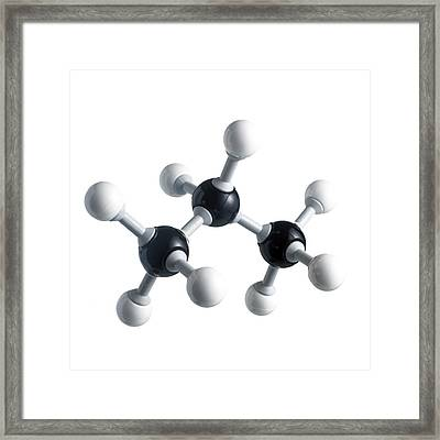 Propane Molecule Framed Print by