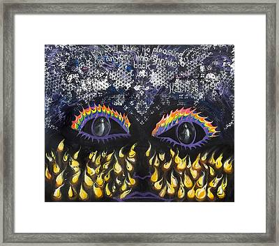 Prophetic Message Sketch 14 Awake And Anticipating The Bridegroom Framed Print by Anne Cameron Cutri