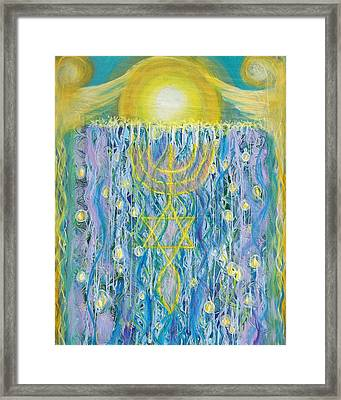 Prophetic Message Sketch Painting 26 Elohim Elohim Latter Rain Framed Print