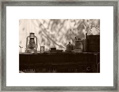Props To The Cowboy Framed Print by Toni Hopper