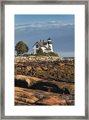 Prospect Harbor Lighthouse Framed Print by John Greim
