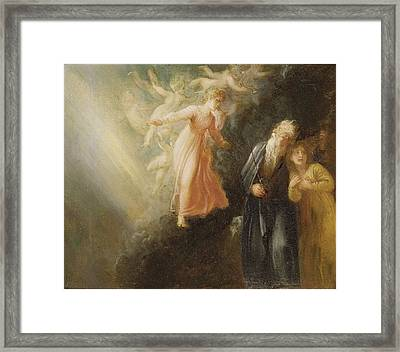 Prospero - Miranda And Ariel  Framed Print