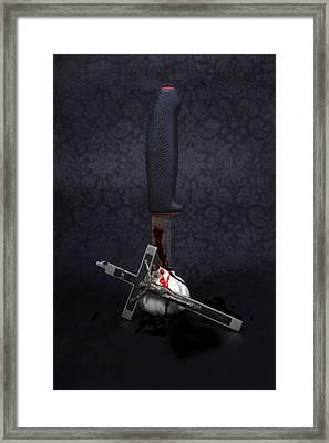 Protection Against Vampires Framed Print