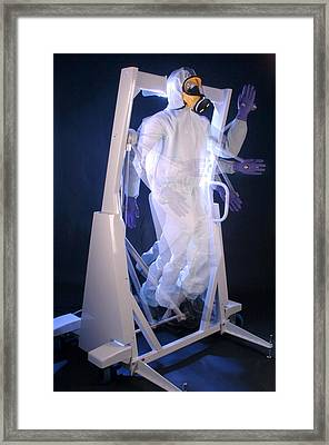 Protective Clothing Testing Framed Print