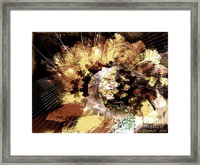 Framed Print featuring the digital art Protein Art by Danica Radman