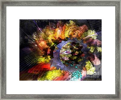 Framed Print featuring the digital art Protein Fleur by Danica Radman