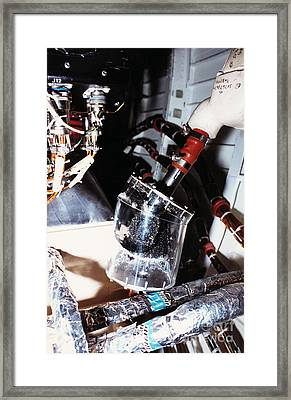 Prototype Airwater Filter On Test Framed Print by NASA / Science Source