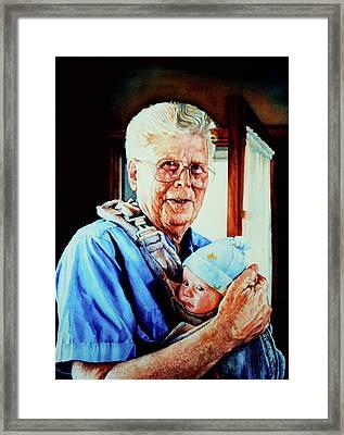 Proud Grandpa Framed Print by Hanne Lore Koehler