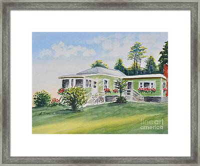 Prout's Neck Cottage Framed Print by Andrea Timm