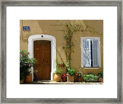 Framed Print featuring the photograph Provence Door 3 by Lainie Wrightson