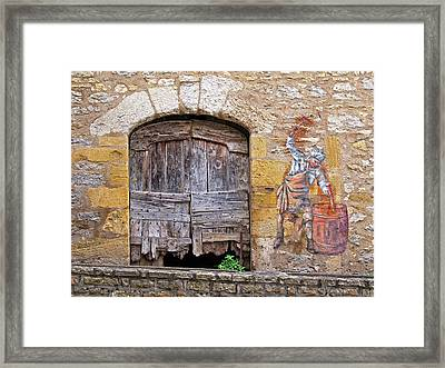 Framed Print featuring the photograph Provence Window And Wall Painting by Dave Mills
