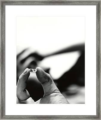 Prozac Antidepressant Capsule Framed Print by Cristina Pedrazzini