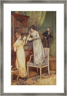 Prying Eyes Framed Print by Henry Gillard Glindoni