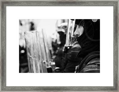 Psni Northern Ireland Riot Police Framed Print by Joe Fox